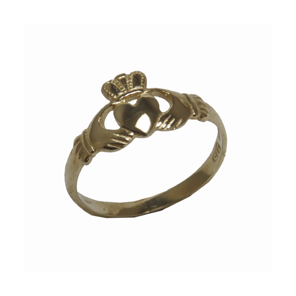 Nine carat gold  Classic Ladies Claddagh Ring