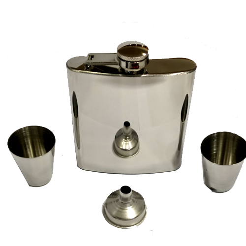 5 oz hip flask with drinking cups