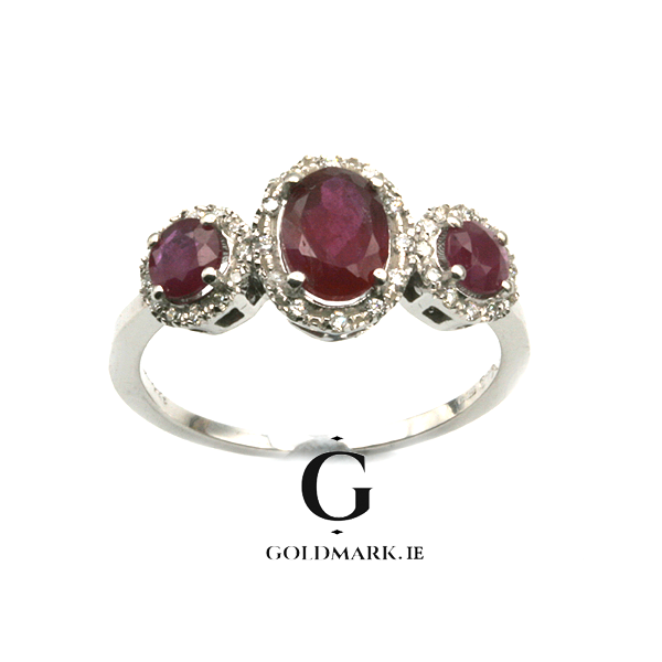 Trilogy Ruby ring
