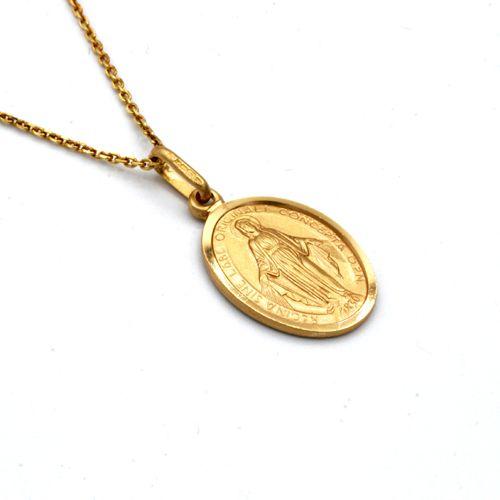 Nine Carat Gold Miraculous Medal