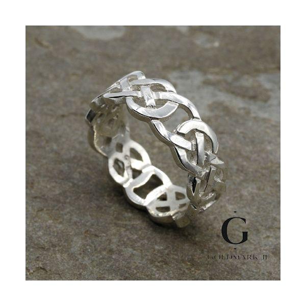 Setanta Mans Celtic  sterling silver ring