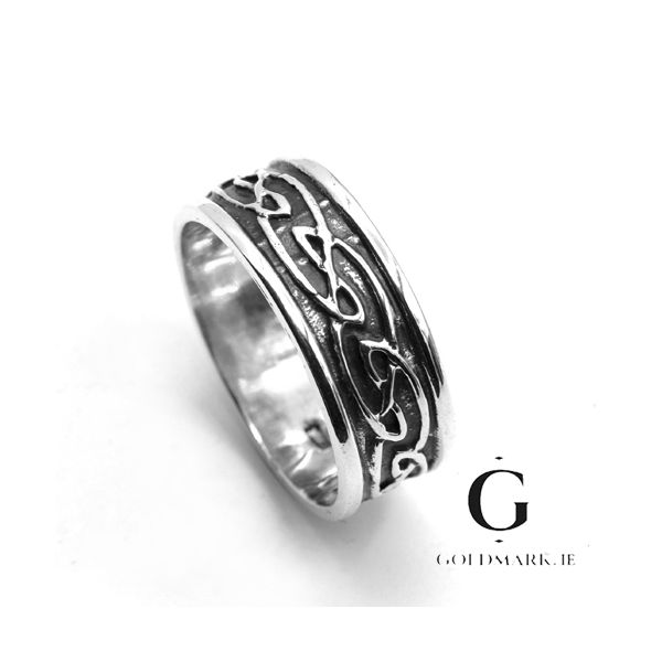 Fionn Mans Celtic  sterling silver ring
