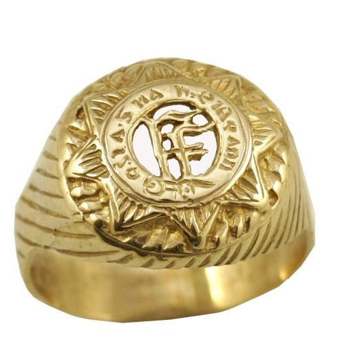 9 carat gold Irish armed forces ring