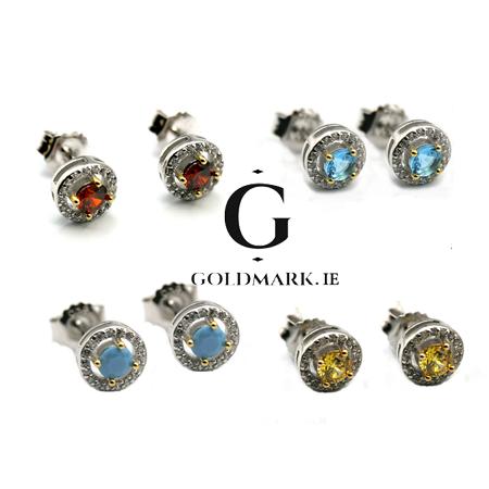 Yo Silver, Sterling silver Birthstone earrings