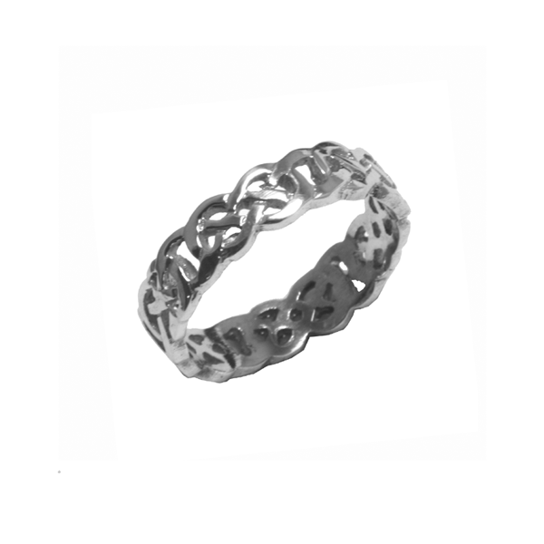 Aisling Ladies Celtic band in sterling silver