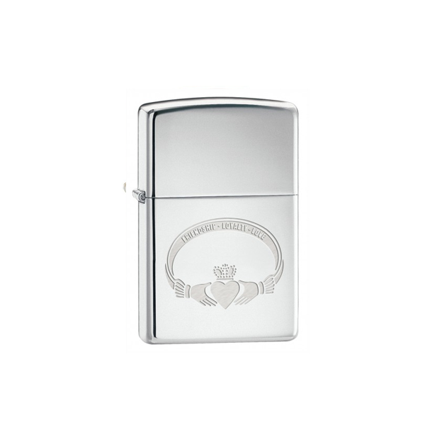 Zippo Lighter with Claddagh design