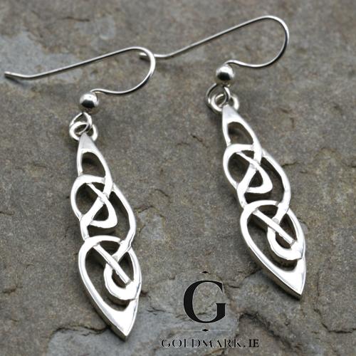 Sterling silver Celtic drop earrings