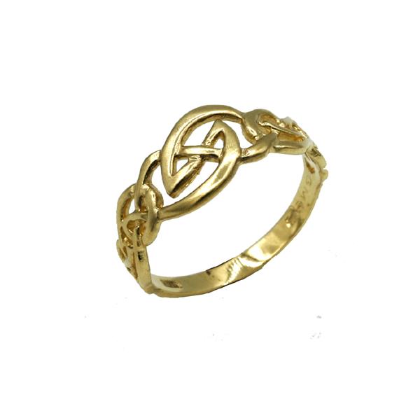 Orlaith nine carat  gold Celtic knotwork ring