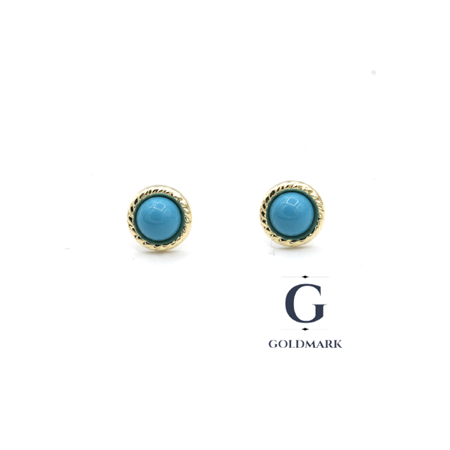 Nine carat gold Turquoise earrings