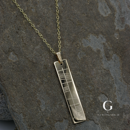 "Ogham ""Anam Cara"" pendant and chain"