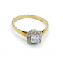 halo gold ring
