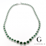 Emerald green cubic necklace