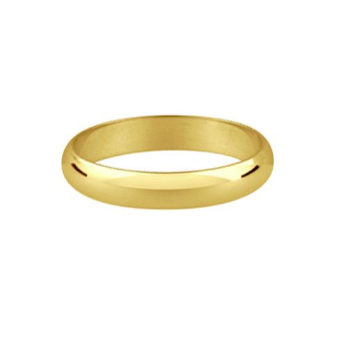 Classic style ladies nine carat gold wedding ring