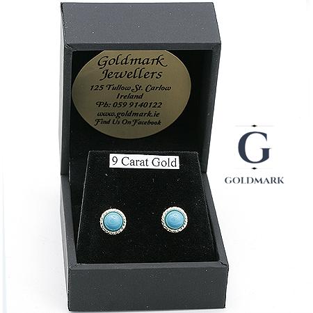 Turquoise earrings in box