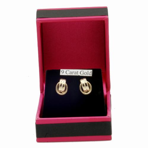 knot earrings in box