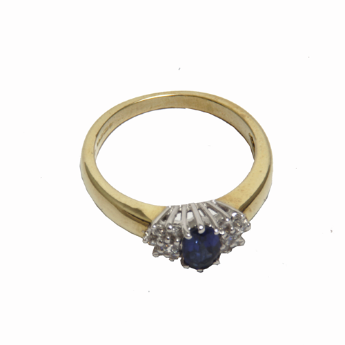 beautiful Sapphire cubic gold ring